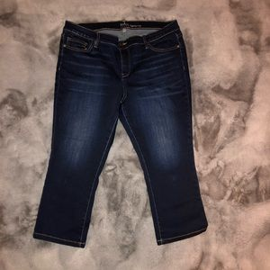 NY&Co Soho jeans copped leggings size 14